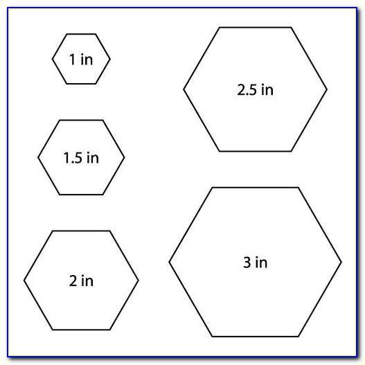 Hexagon Templates Quilting