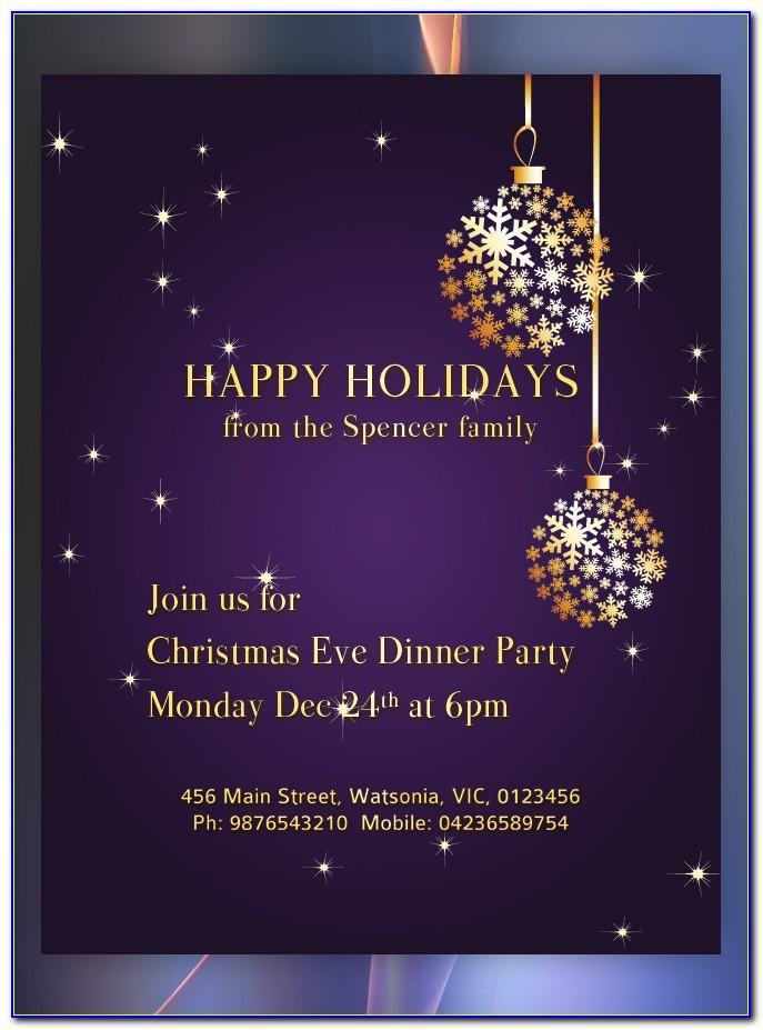 Holiday Invitation Flyer Templates
