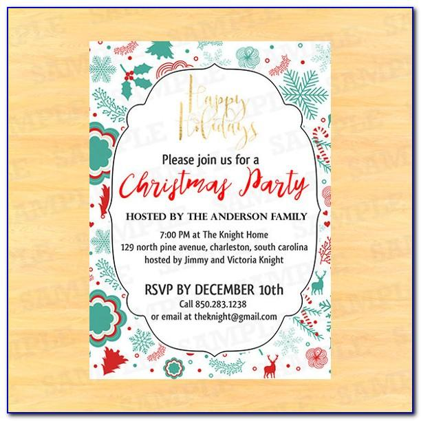 Holiday Invitation Templates Free Download