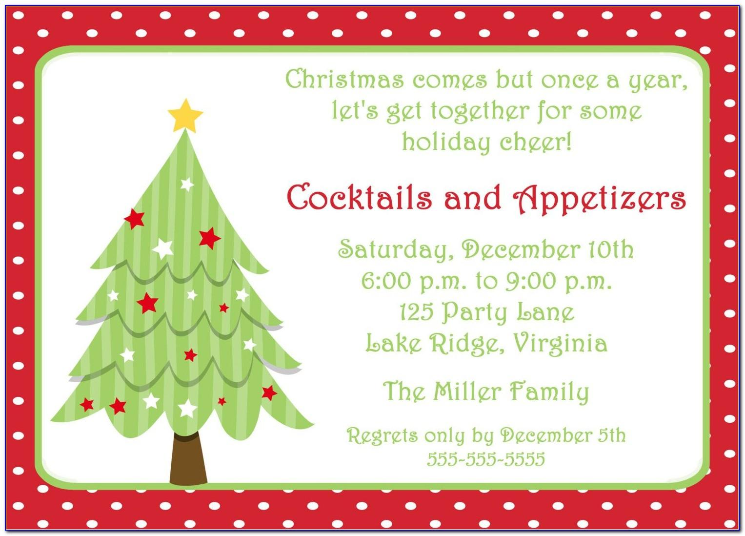 Holiday Party Invitation Template Free Download