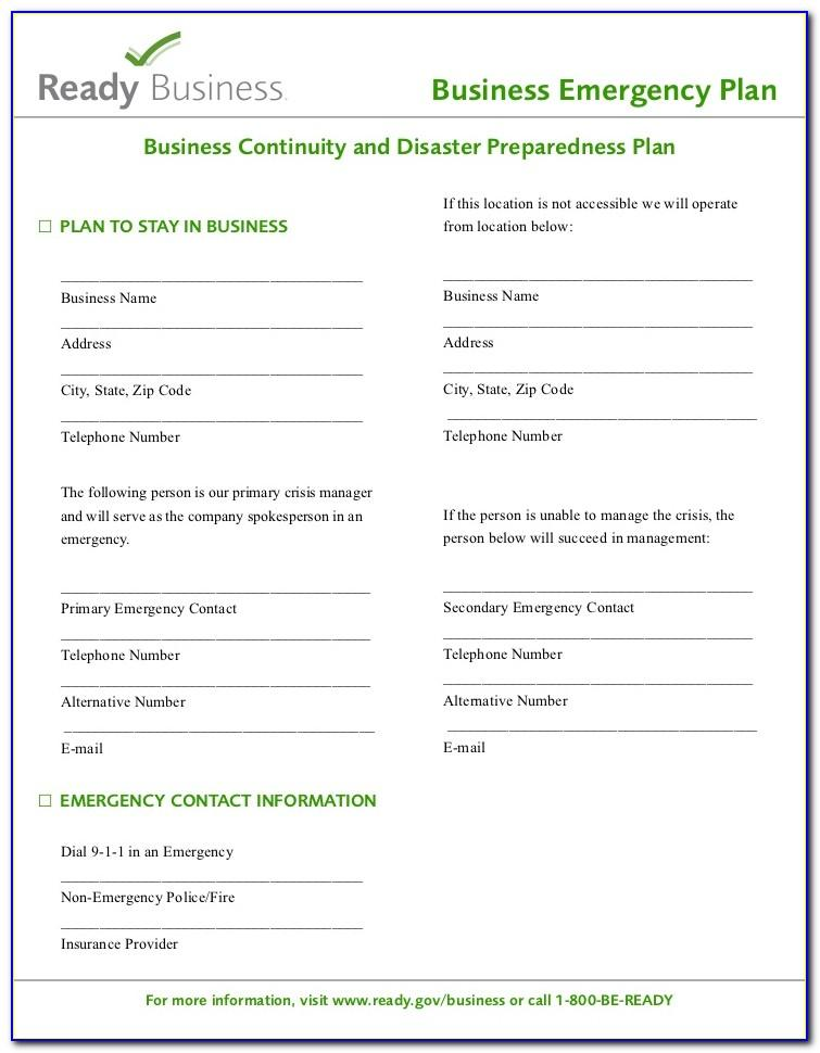 Hospice Emergency Preparedness Plan Template
