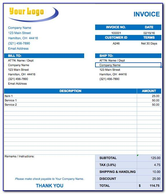 Hospital Bill Invoice Template
