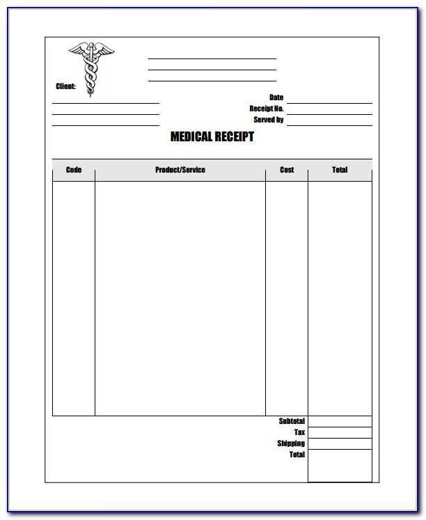 Hospital Payment Receipt Template