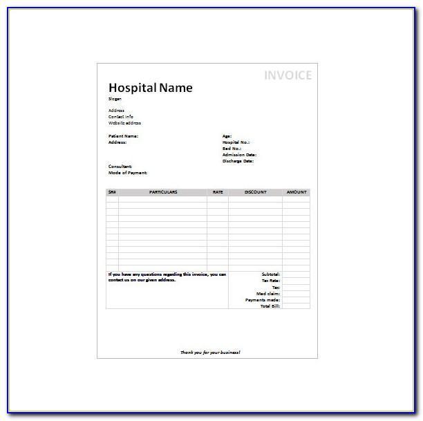Hospital Receipt Template