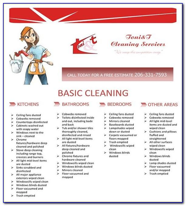 Housekeeping Flyer Templates Free