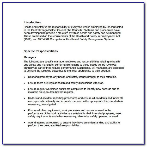 Hse Manual Handling Assessment Template