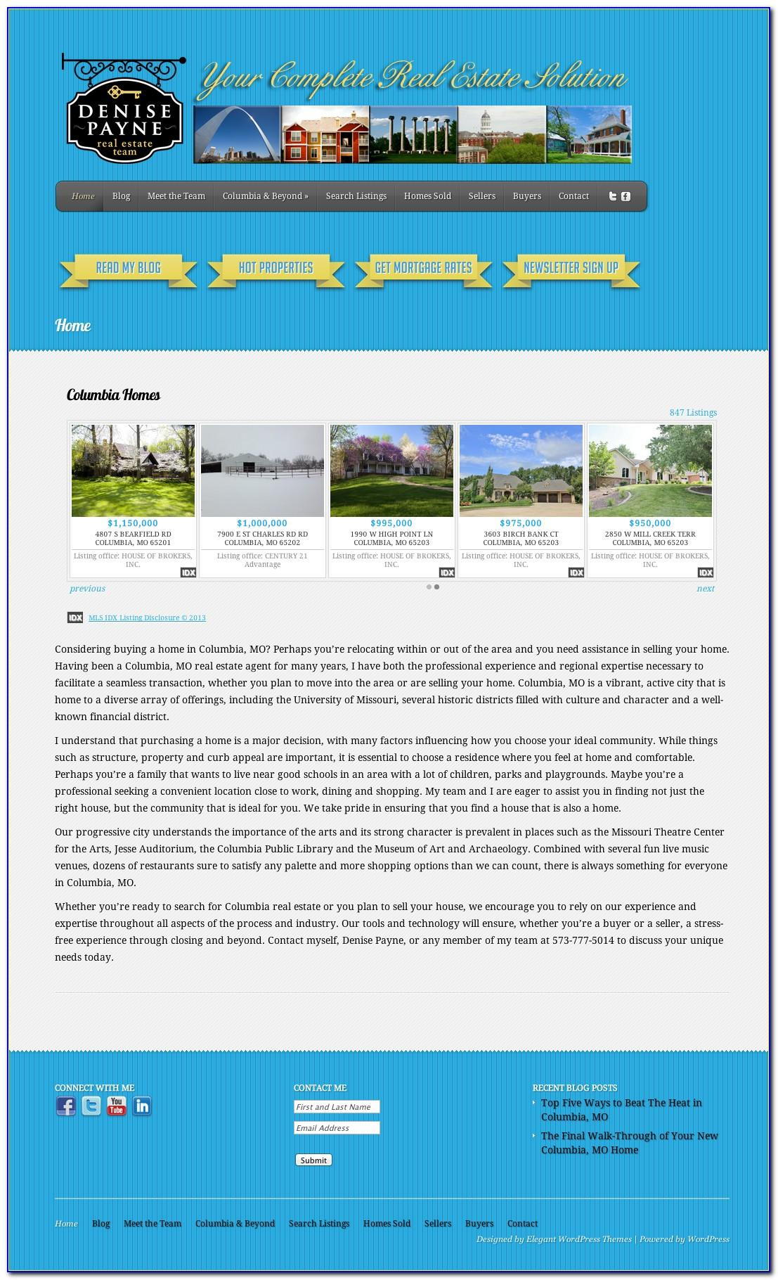 Idx Real Estate Website Templates