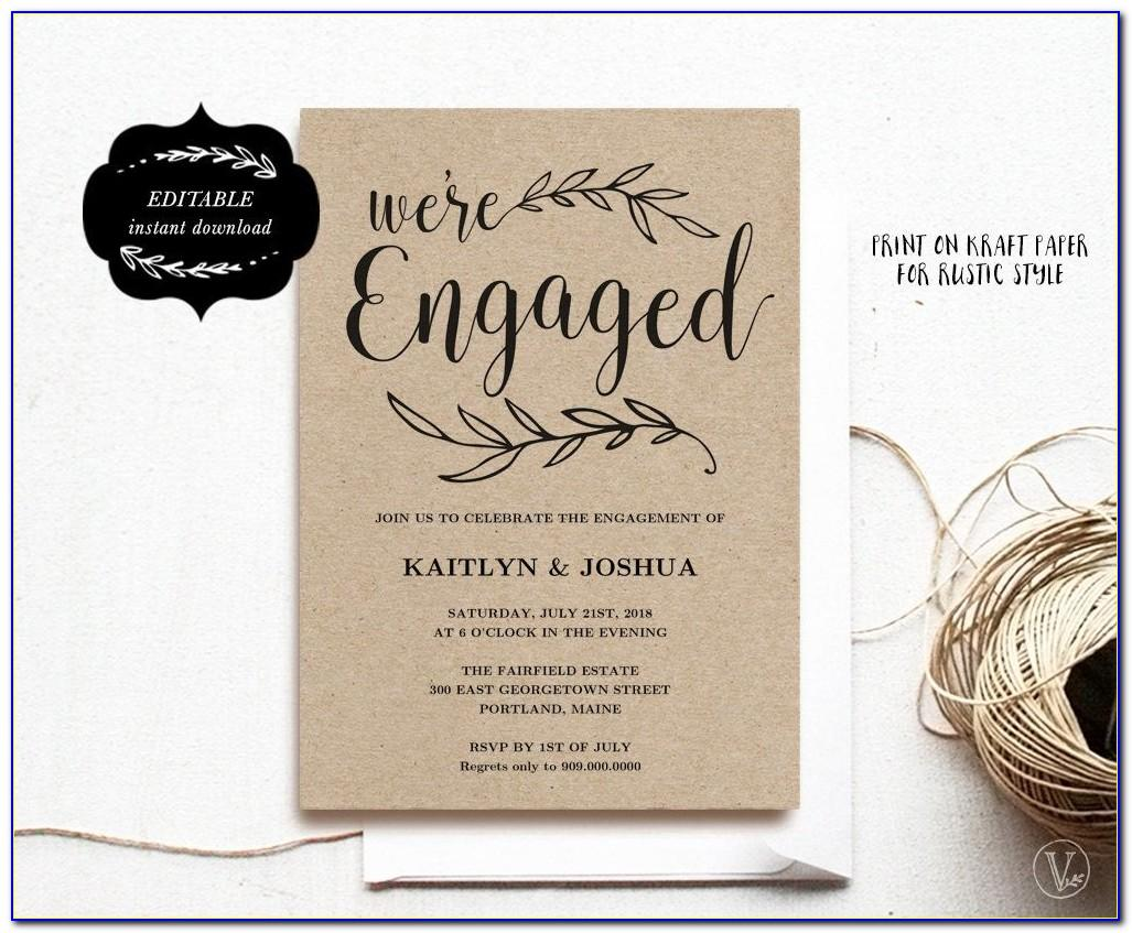 Indian Engagement Invitation Templates Free Download