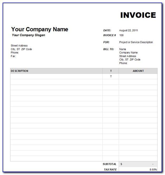 Interior Decorating Invoice Template