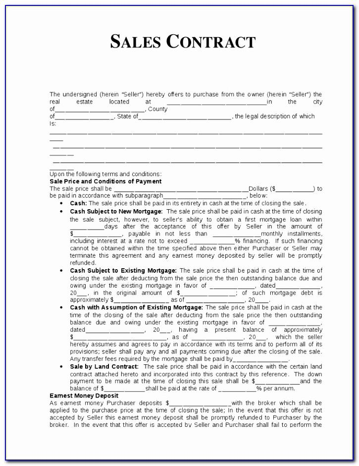International Sales Of Goods Contract Template