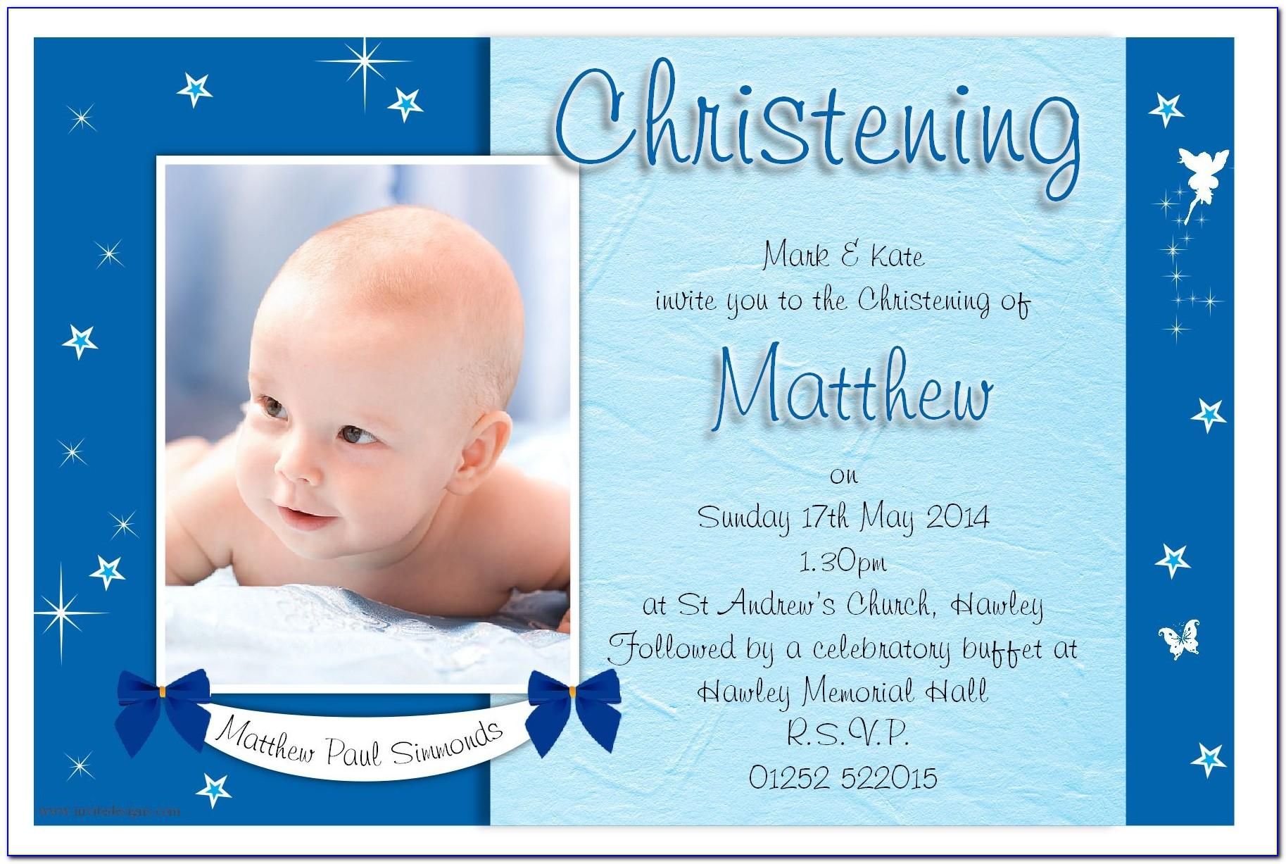 Invitation Designs For Baptism