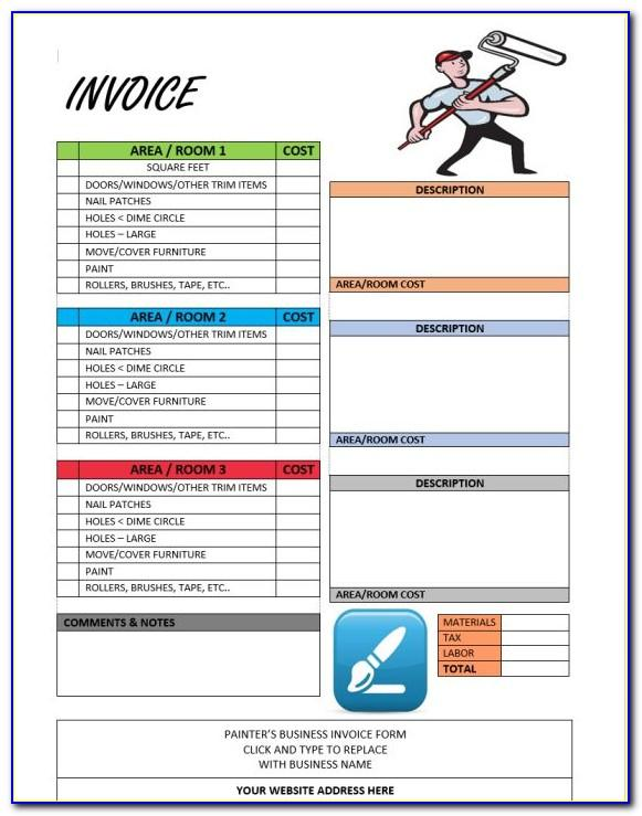 Invoice Template For Painting