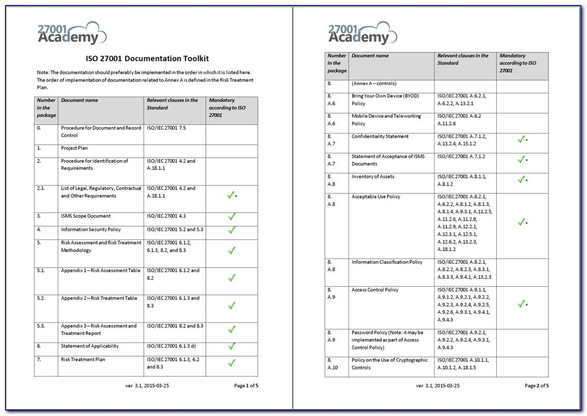 Iso 27001 Scope Document Template