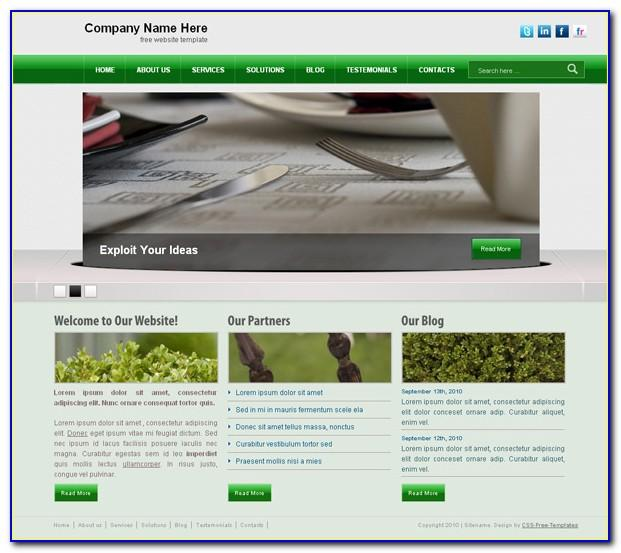 Jquery Website Templates Free Download Html With Css