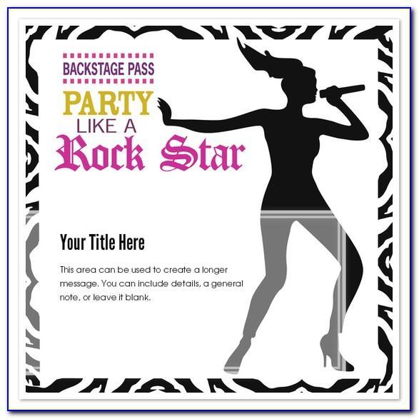 Karaoke Invitation Template Free