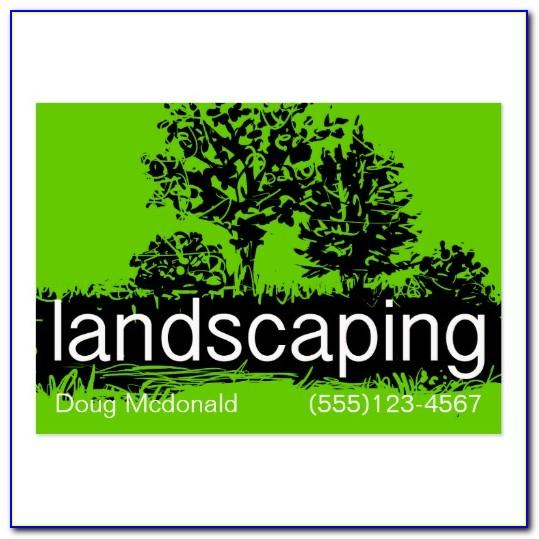 Landscaping Visiting Card Template