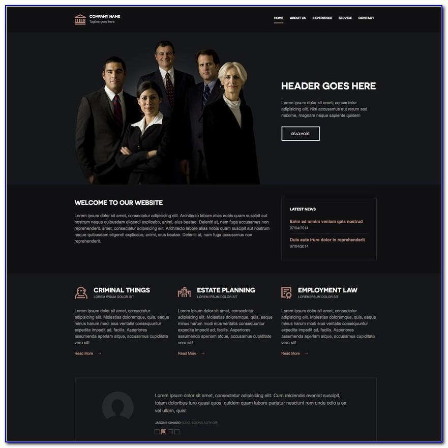 Law Firm Responsive Website Template Free Download