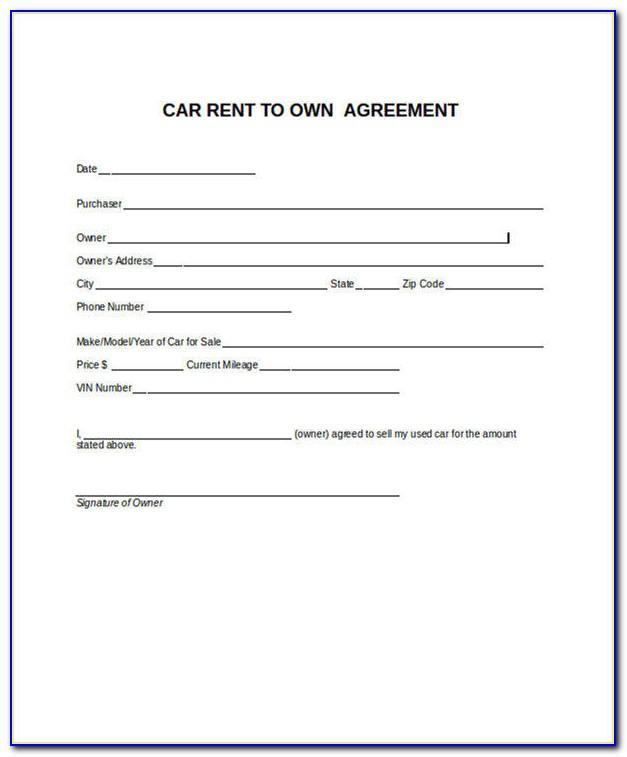 Lease To Own Car Contract Sample
