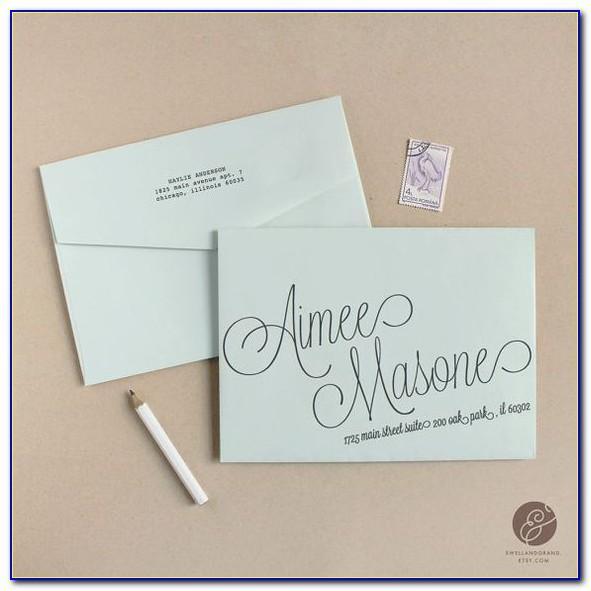 Line Template For Addressing Envelopes