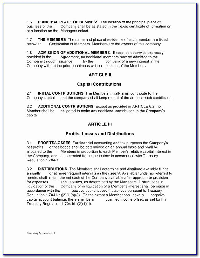 Llp Partnership Agreement Template Free Uk