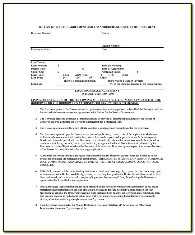 Loan Broker Agreement Sample