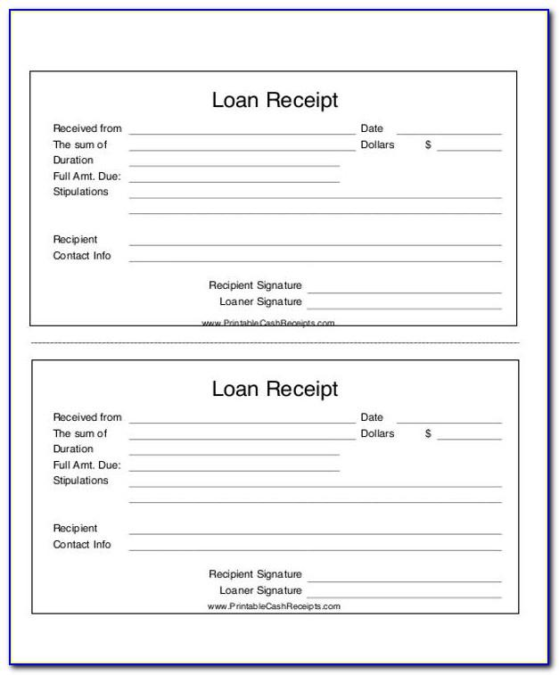 Loan Payment Invoice Template