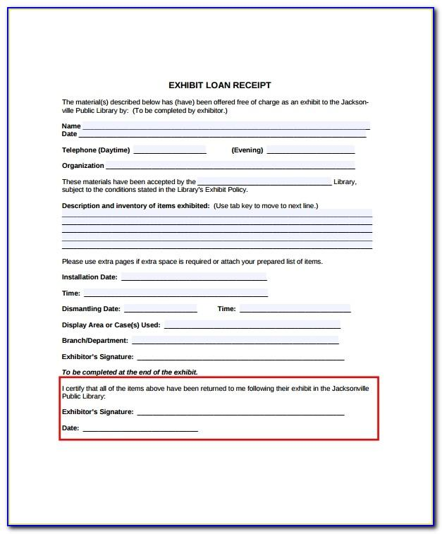 Loan Payment Receipt Format