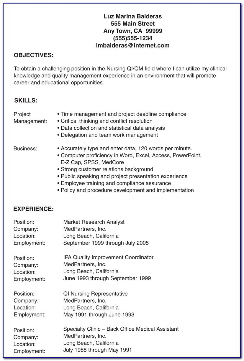 Lvn Nursing Resume Template