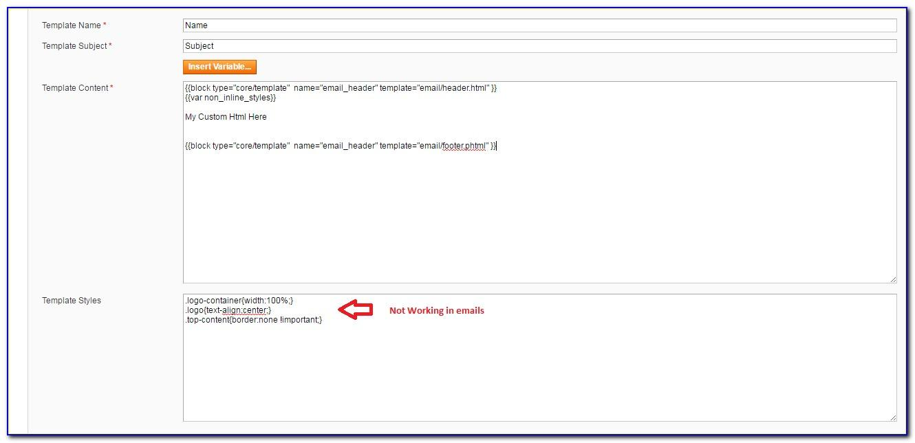 Magento Transactional Emails Template Styles