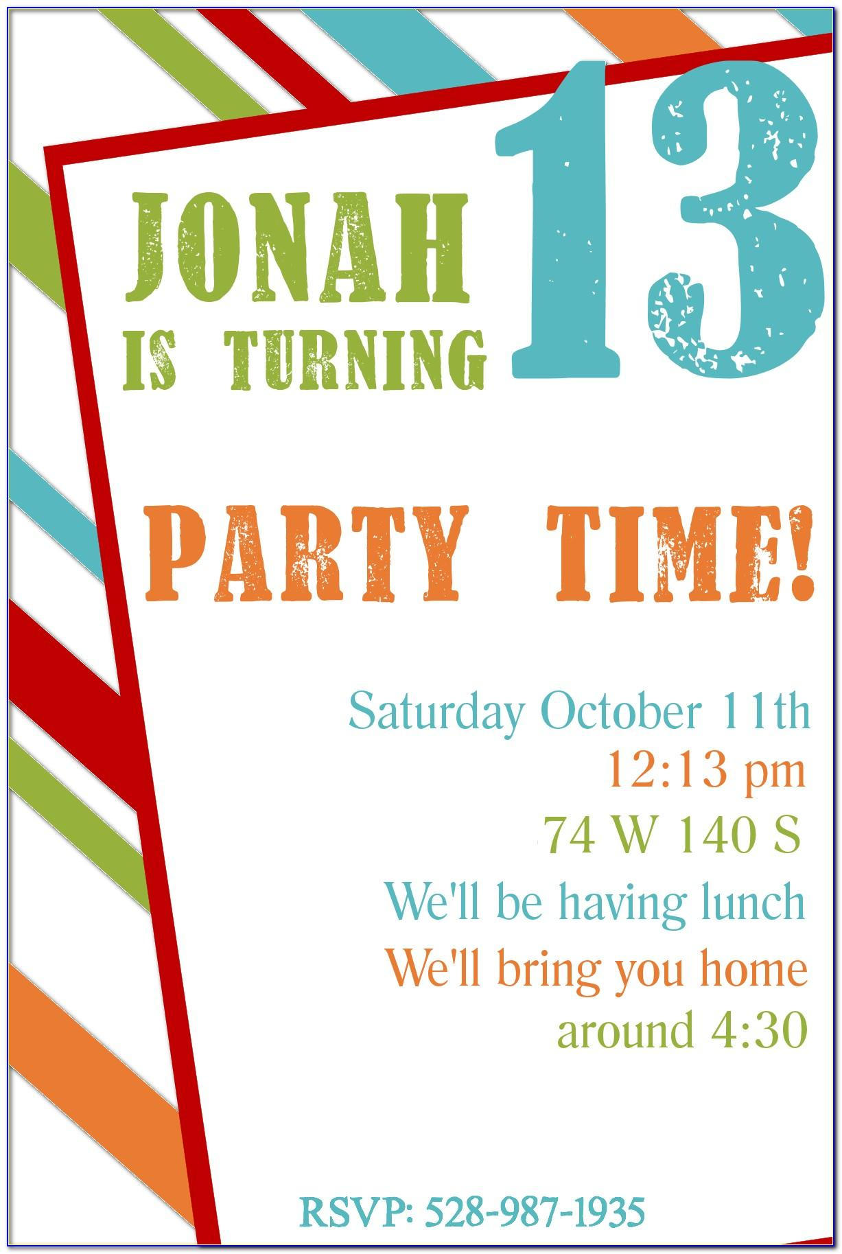 Male 21st Birthday Invitation Templates Free
