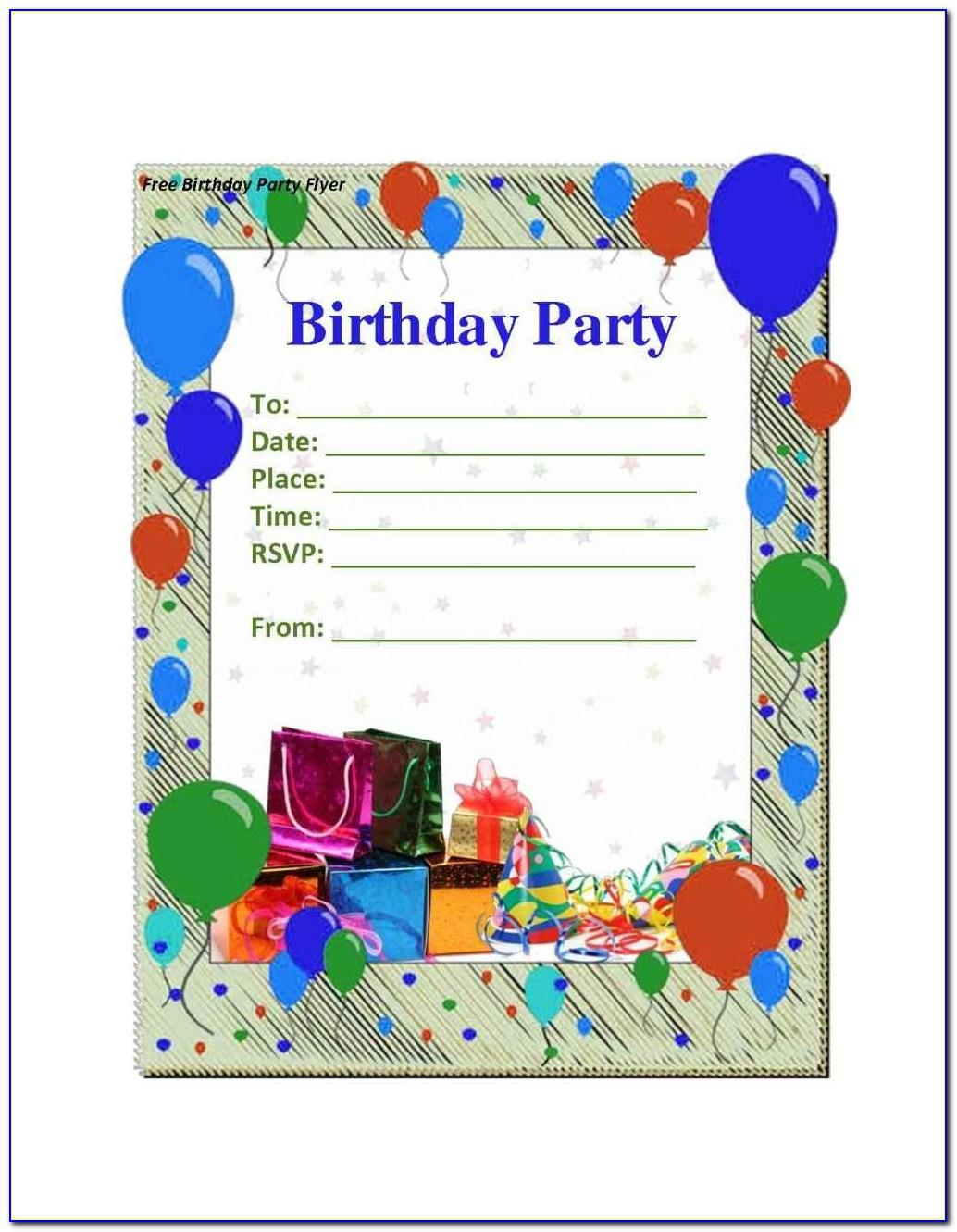 Male Birthday Invitation Templates Free