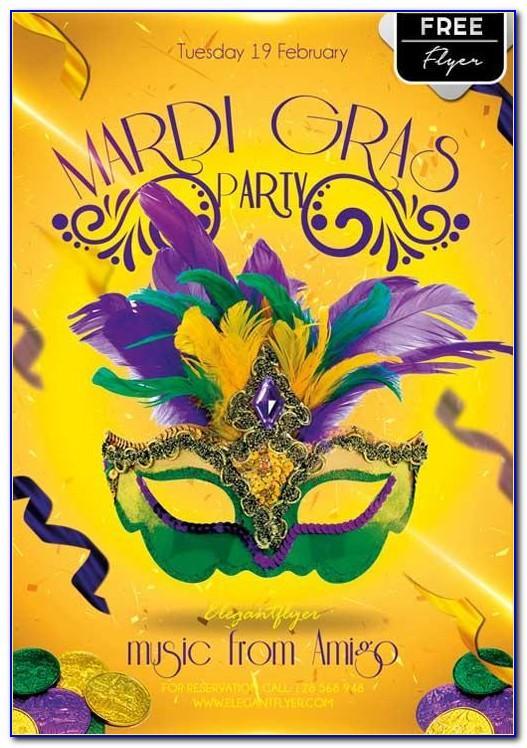 Mardi Gras Flyer Template Download