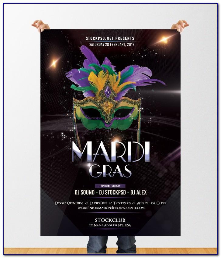 Mardi Gras Party Flyer Templates Free