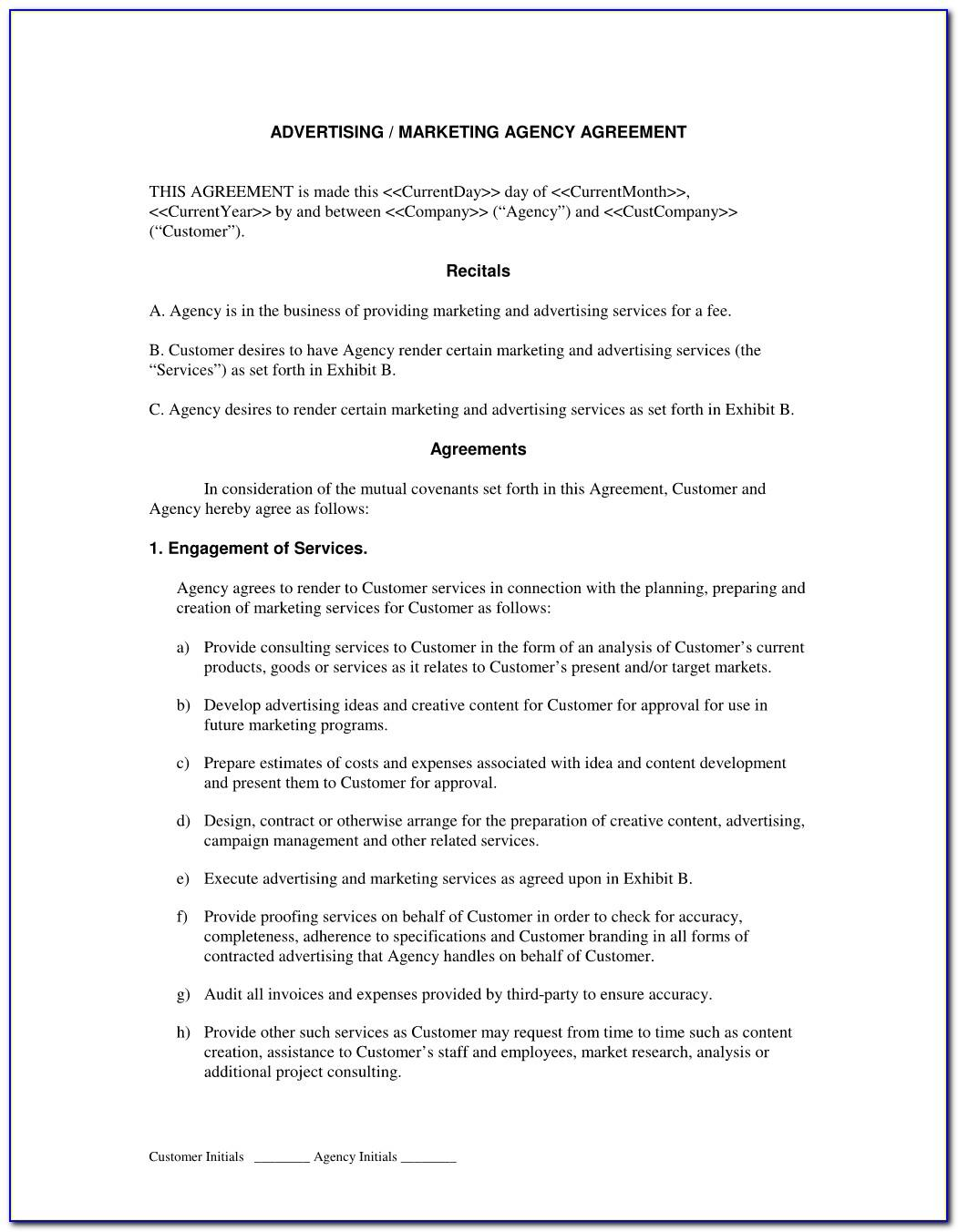 Marketing Agency Service Agreement Template