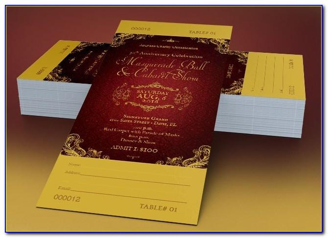 Masquerade Ball Ticket Template Free