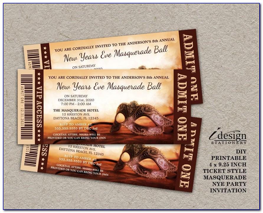 Masquerade Ball Ticket Template