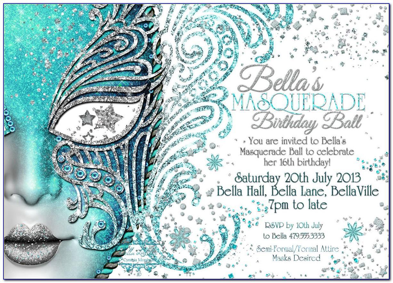 Masquerade Party Invitation Template Free