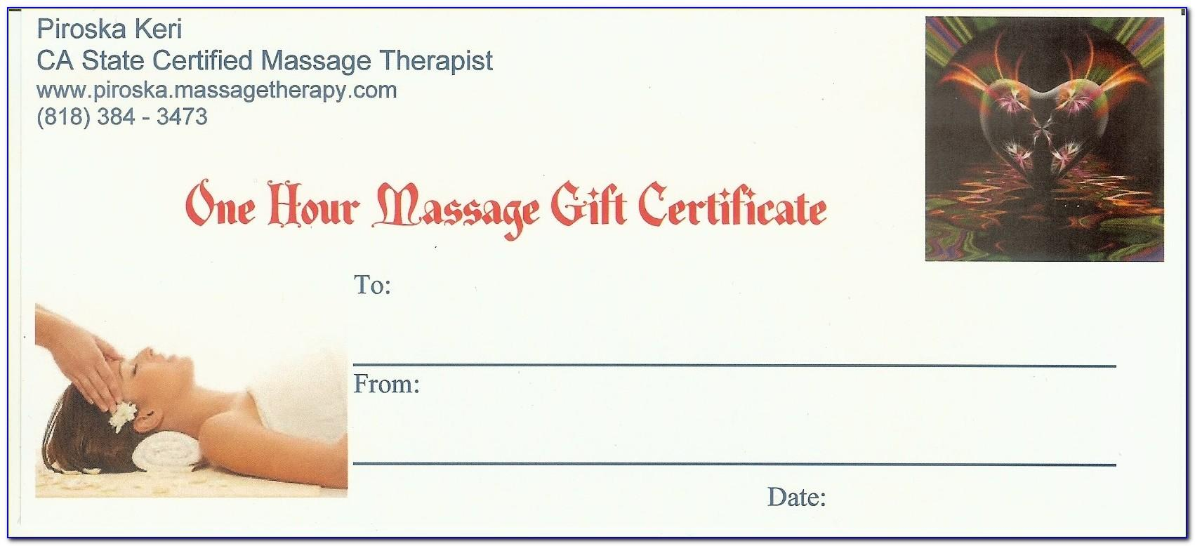 Massage Gift Certificate Templates Free Download
