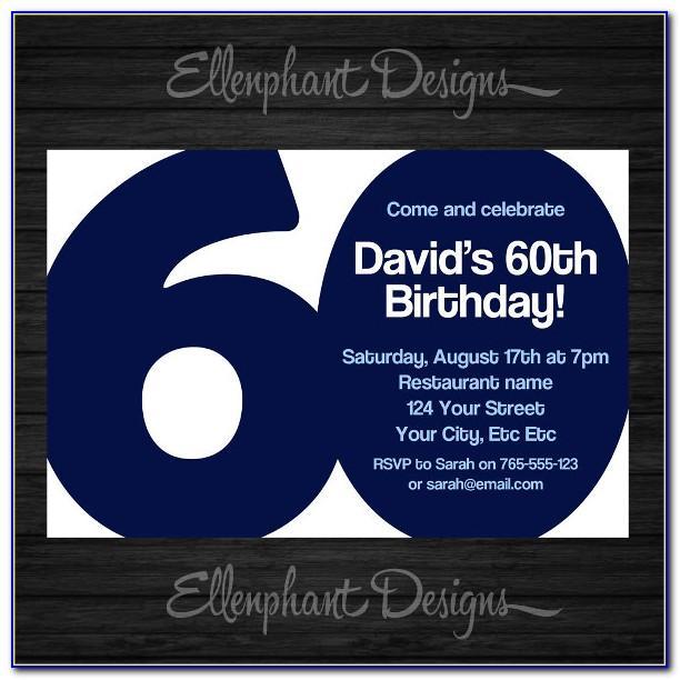 Mens Birthday Party Invitation Templates