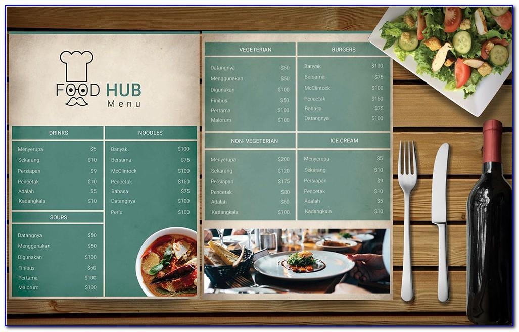 Menu Template Cafe Free