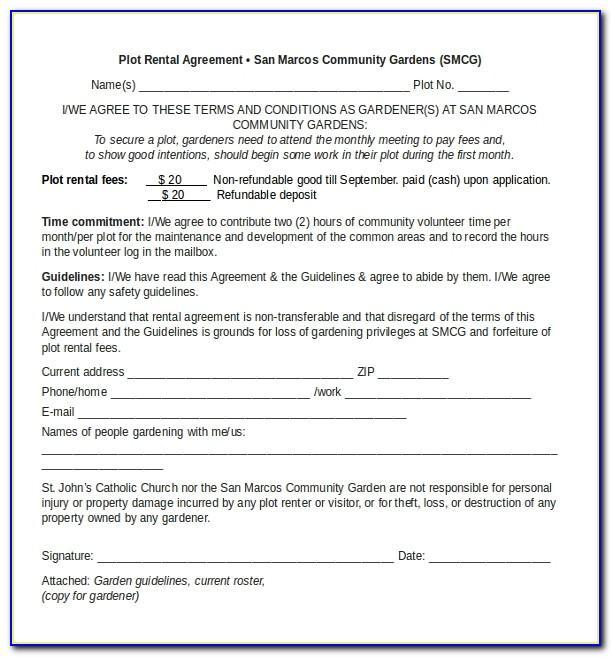 Microsoft Rental Agreement Template