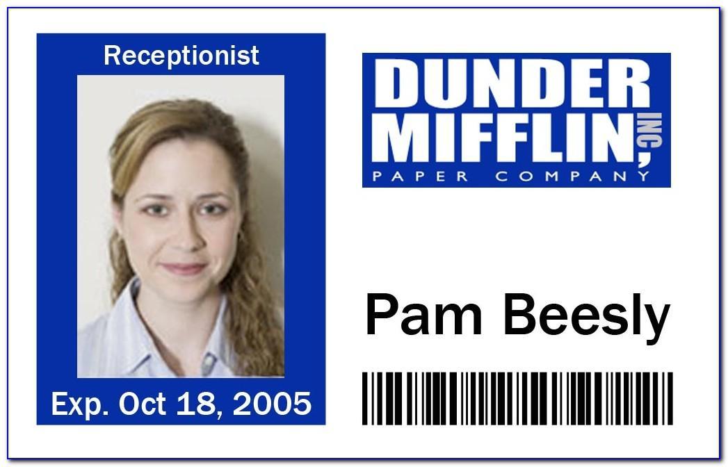 Mifflin Name Badge Template