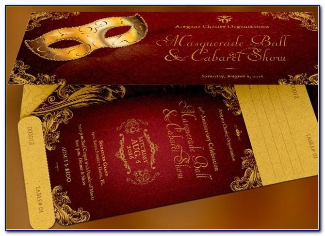 Military Ball Ticket Template