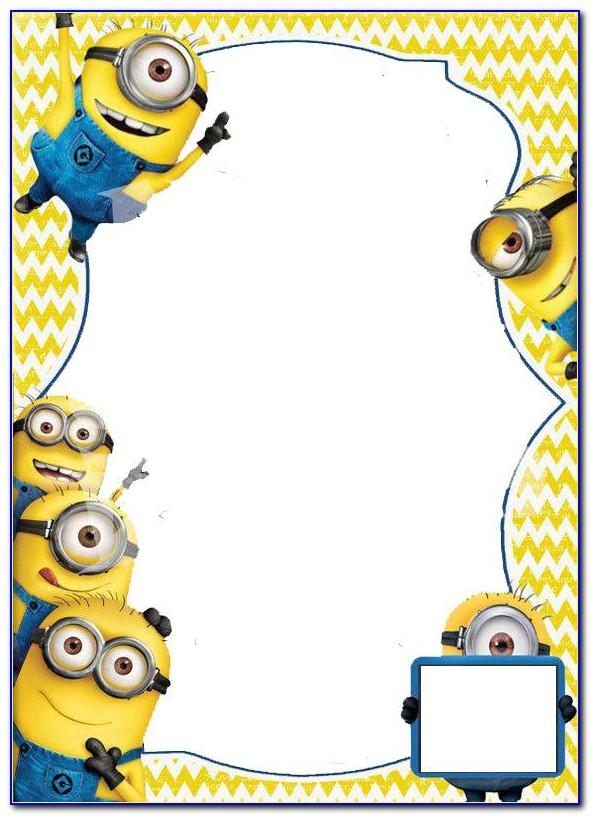 Minion Birthday Invite Template Free
