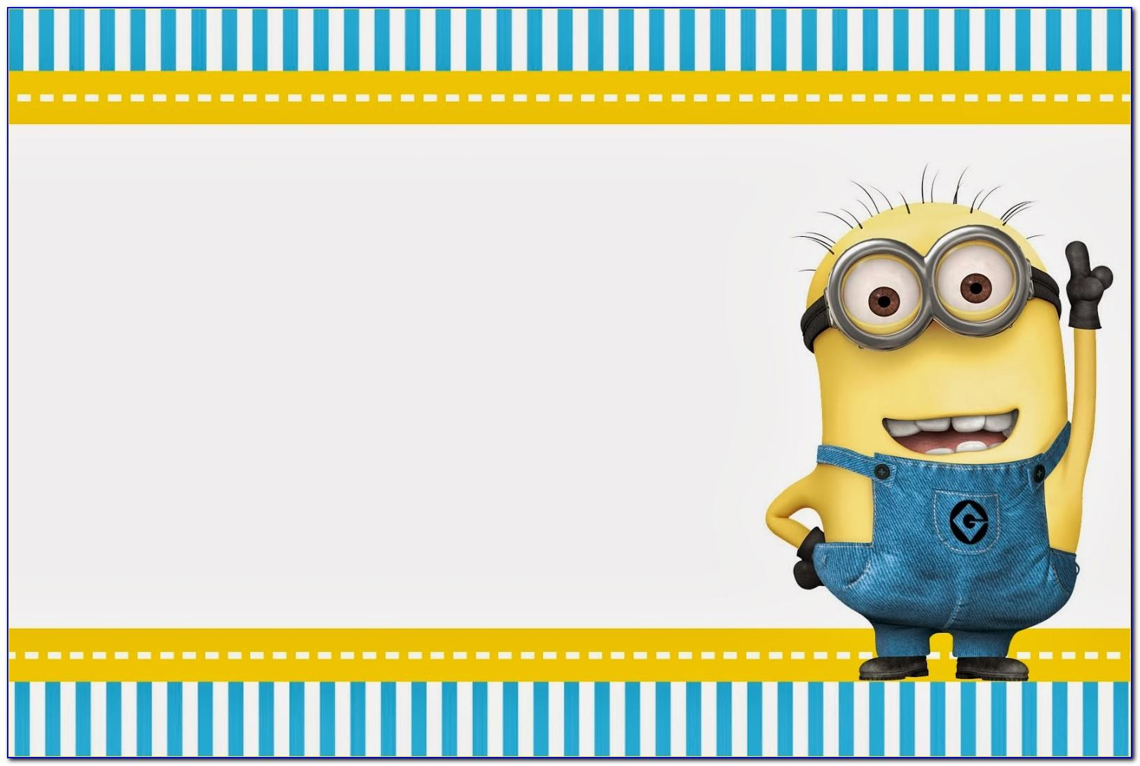 Minion Birthday Invite Template