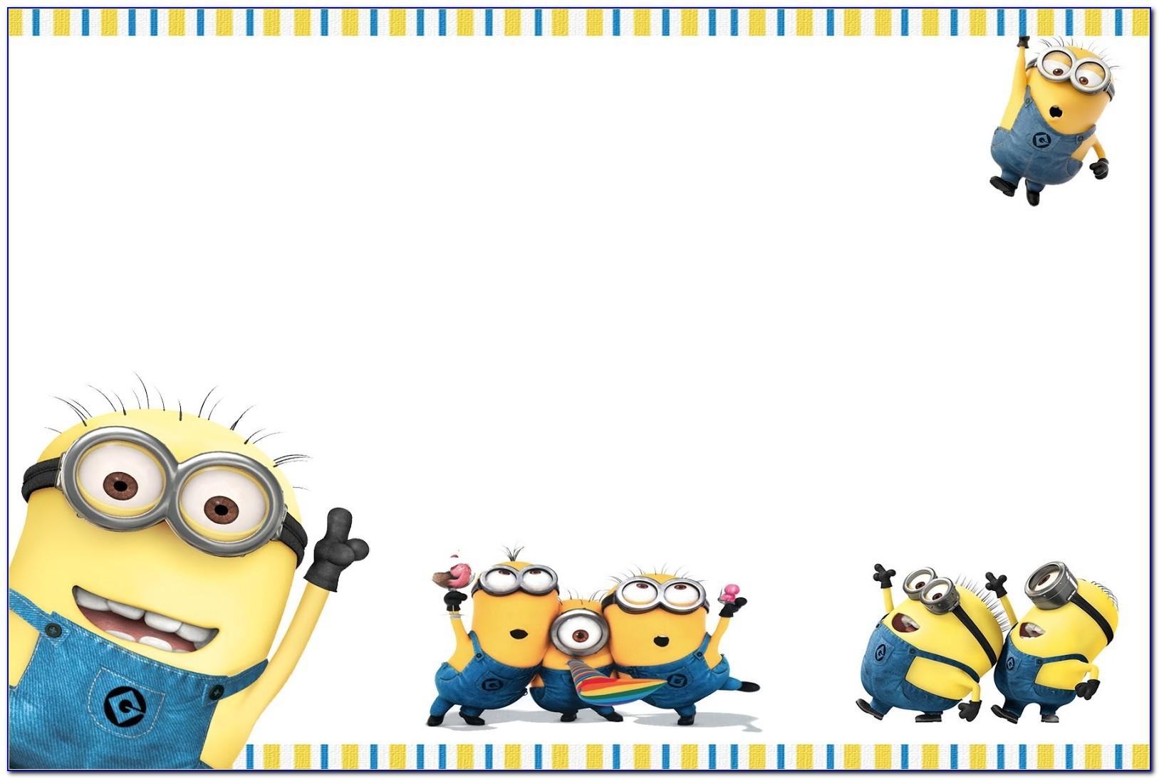 Minion Party Invitation Template
