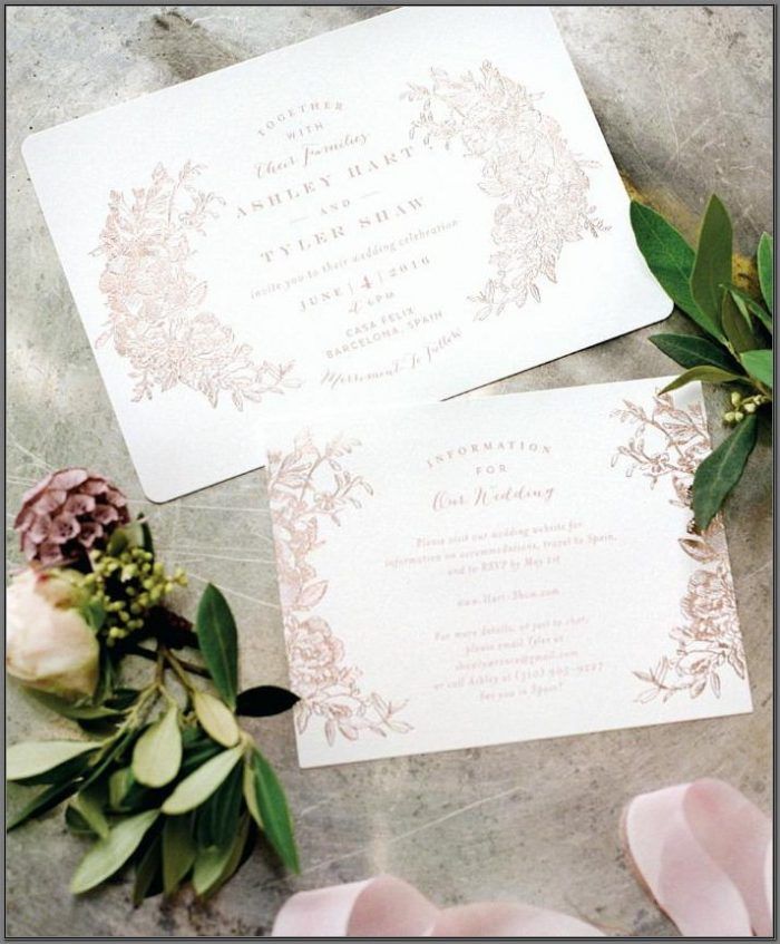 Minted Wedding Invitations Canada