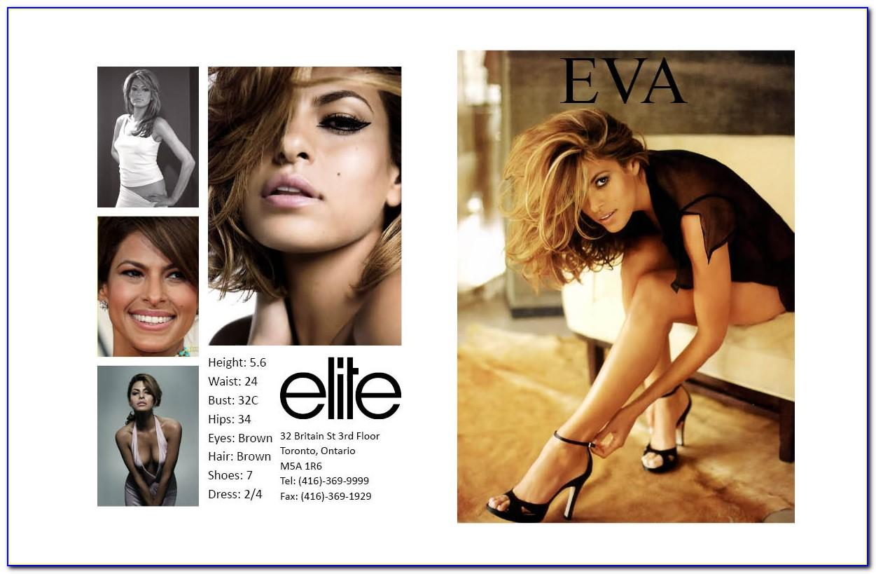 Model Comp Card Template Download Free