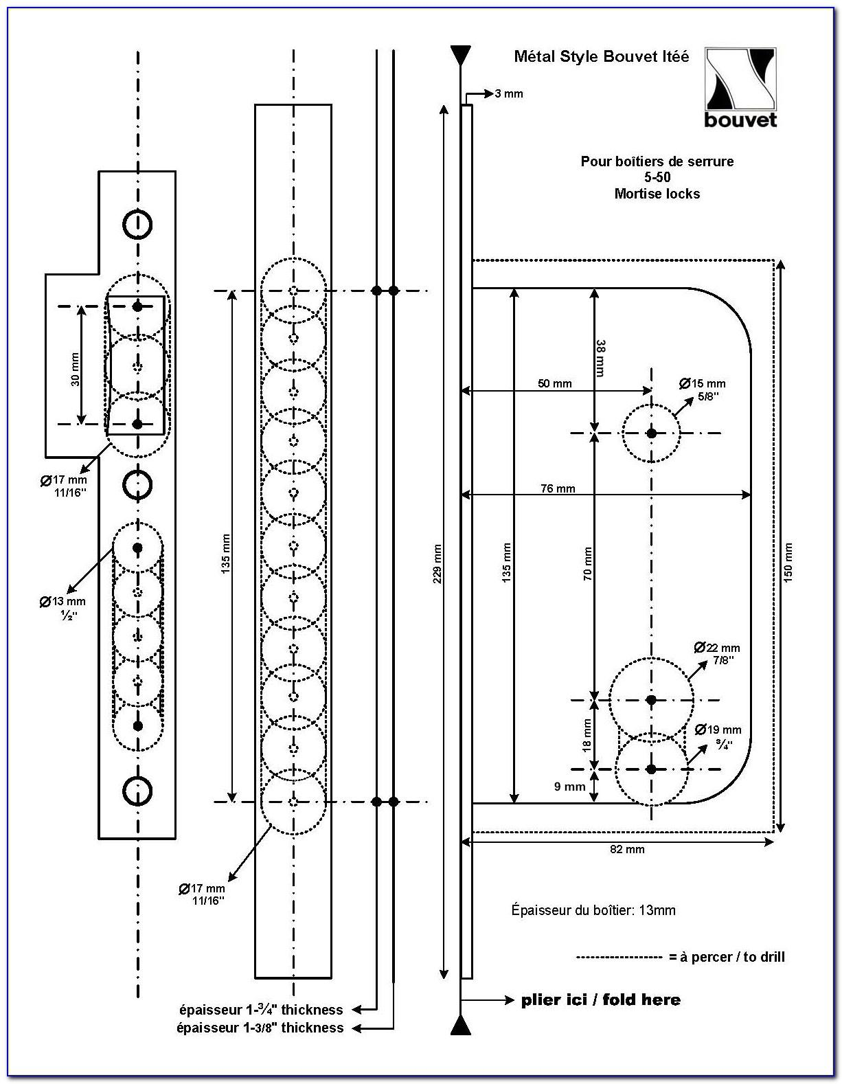 Mortise Lock Template Schlage