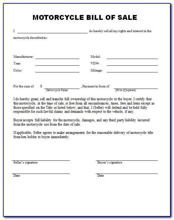 Motorcycle Hire Purchase Agreement Template